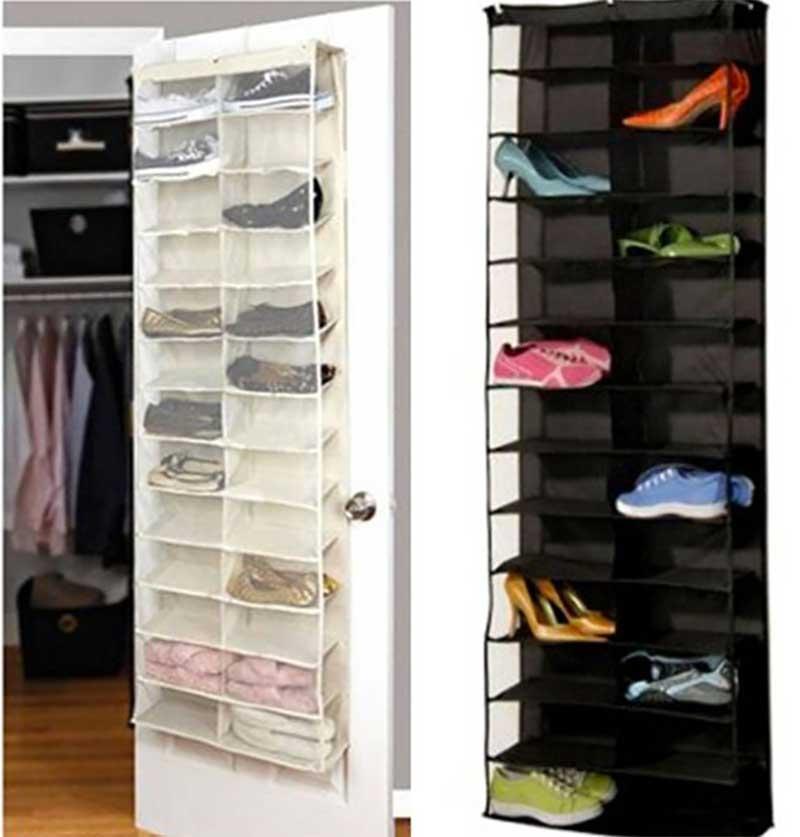 Over the Door Shoe Rack with Shelves