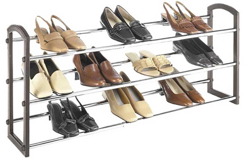 Expandable Chrome Shoe Rack