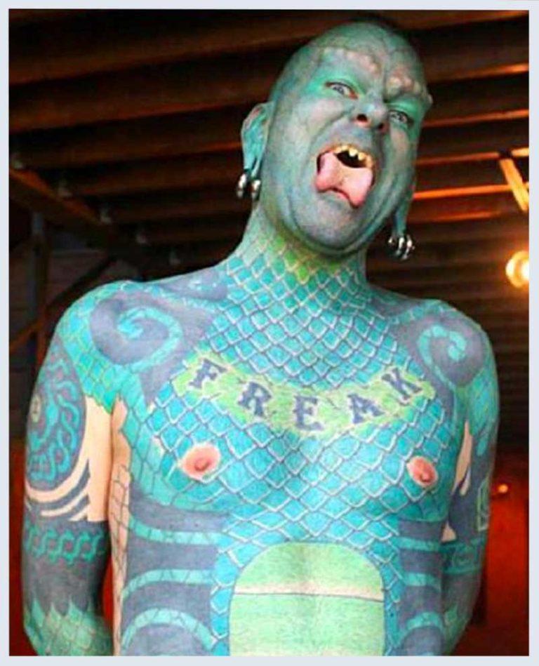 The Lizardman tattoo.