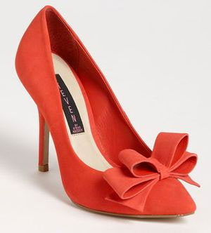 Orange Suede Pumps