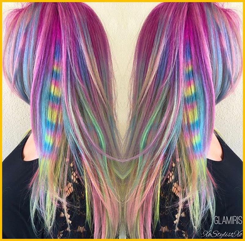Pastel Rainbow Color Mermaid Hair