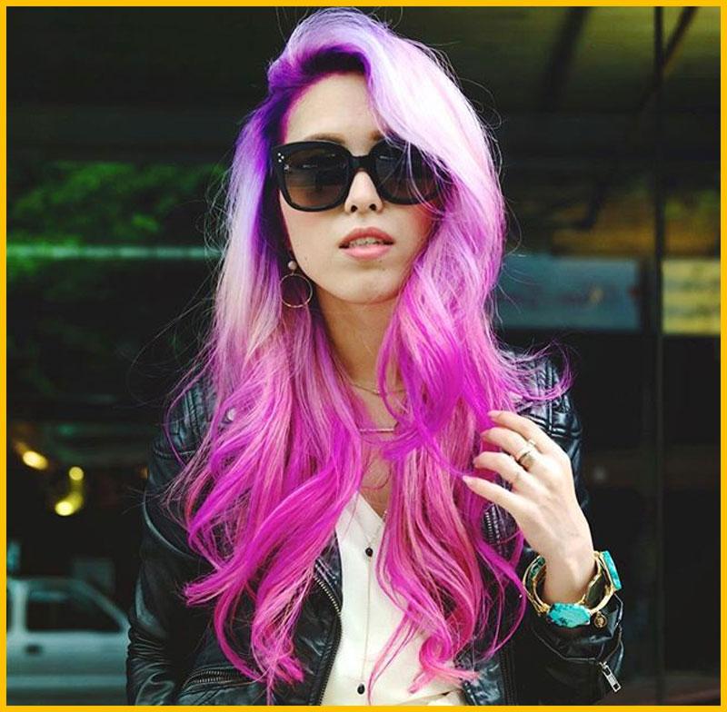 Pink Fade Mermaid Hair