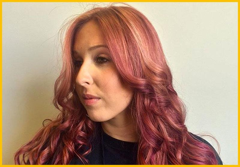 Rose Colored Mermaid Hair