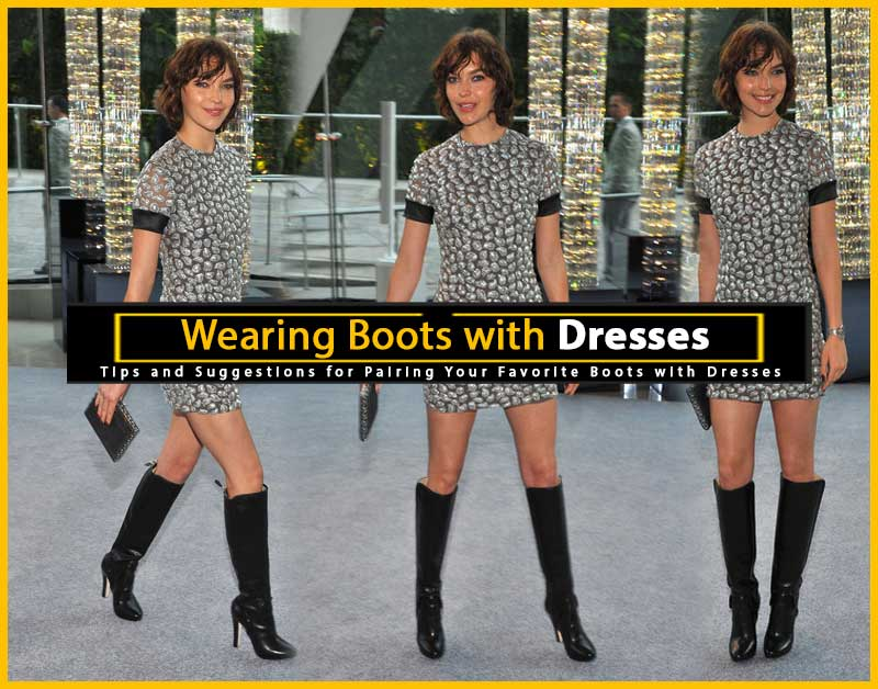 Wearing Boots with Dresses