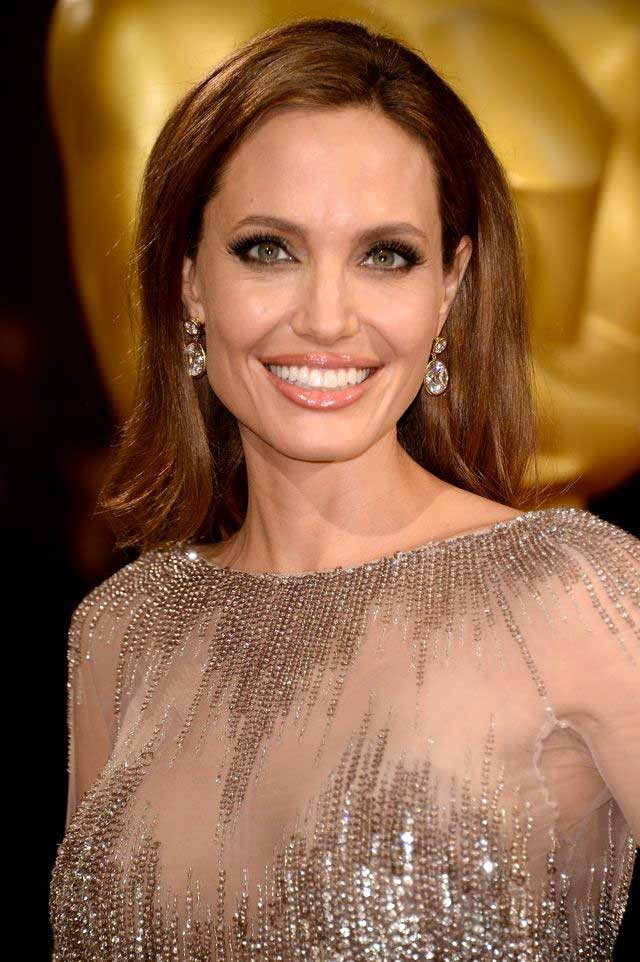 Angelina Jolie's Warm Brunette Color
