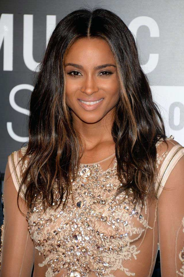 Ciara Harris' Dark Chocolate Hair Color