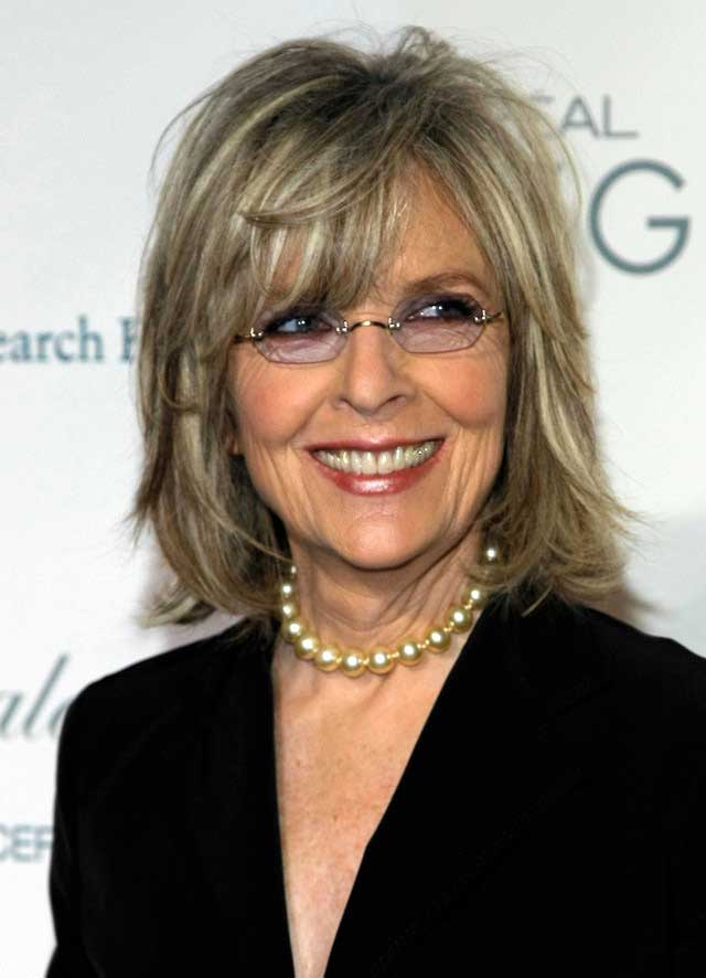 Diane Keaton's youthful bangs