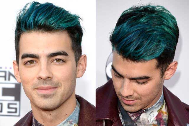 Joe Jonas' Blue Merman Hair