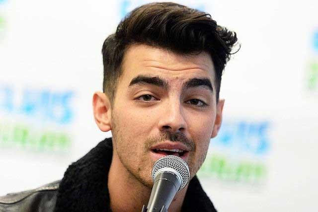 Joe Jonas Tapered Haircut