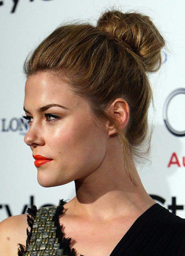Messy Topknot hairstyle - Top Hairstyle