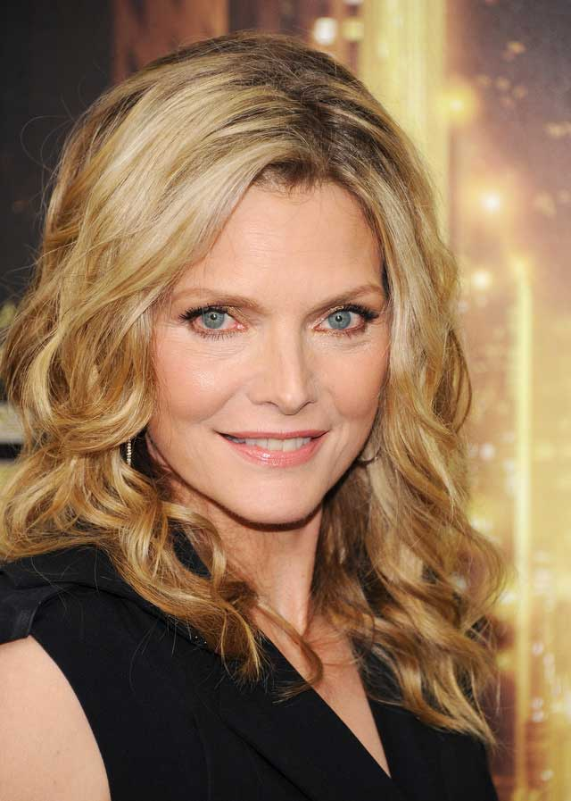 Michelle Pfeiffer's textured waves