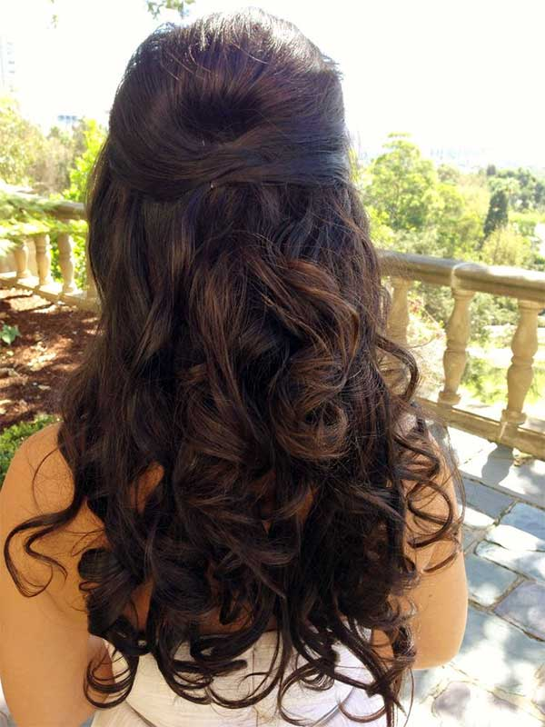 Pinned-Back Hairstyles
