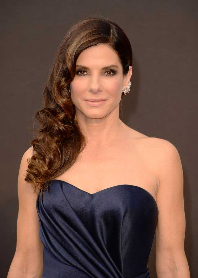 Sandra Bullock's Highlighted Brown Hair