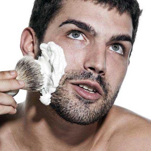Applying the Shaving Cream