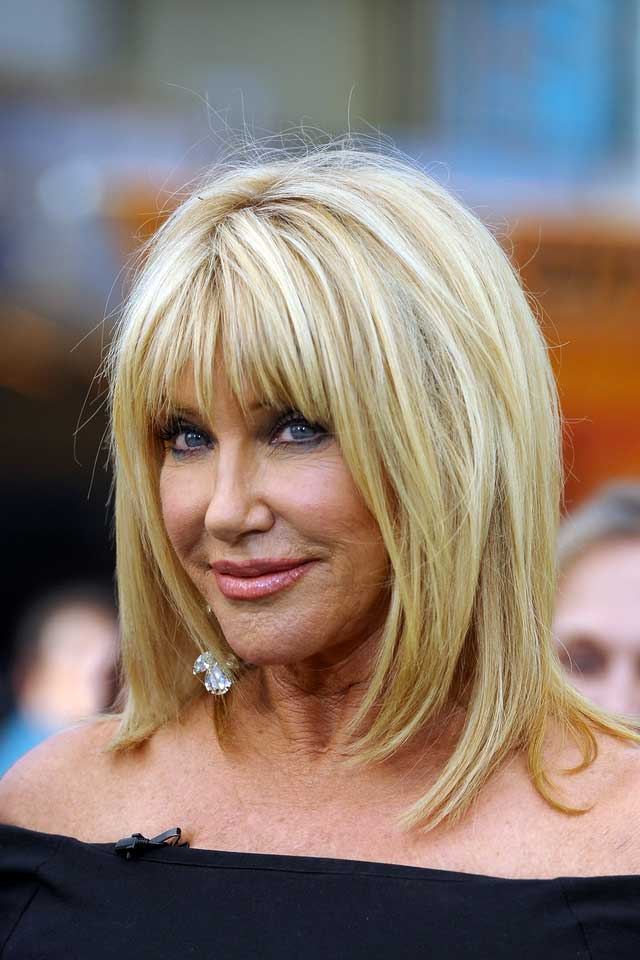 Suzanne Somers's youthful healthy hair