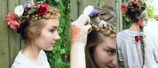 Floral French Braid