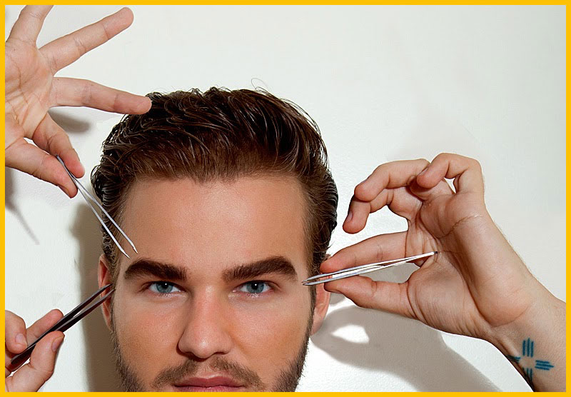 Waxing A Man's Eyebrows