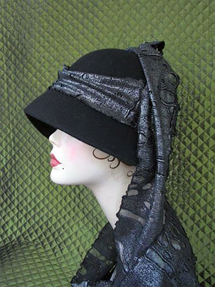 Industrial Waste Scarf Cloche