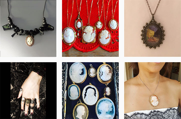 Cameo Pendants and Necklaces