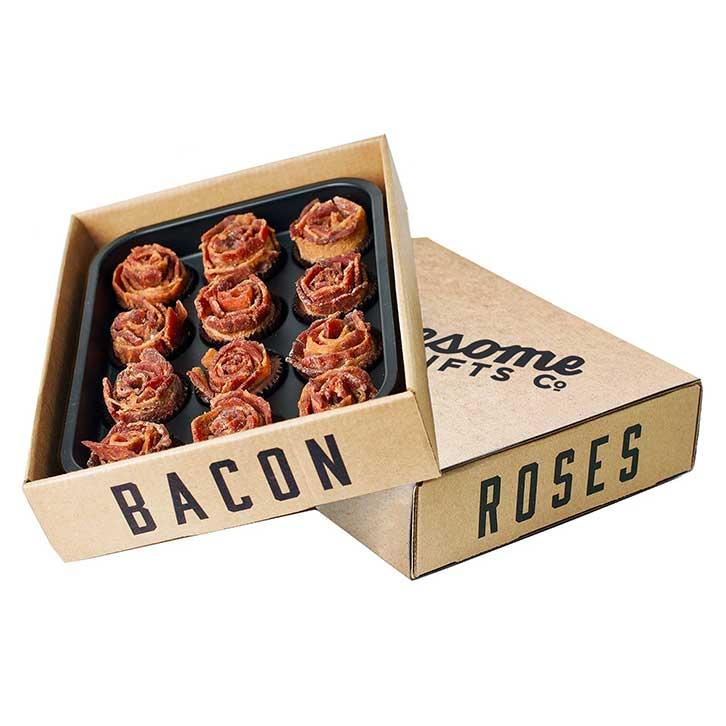 Edible Bacon Rose Bouquets