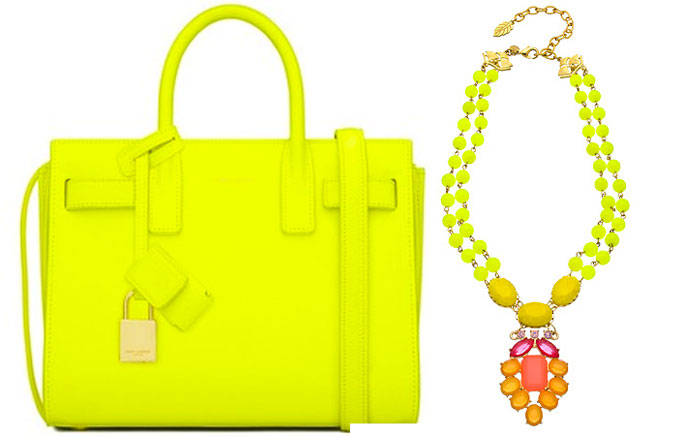 Neon Yellow Leather Bag