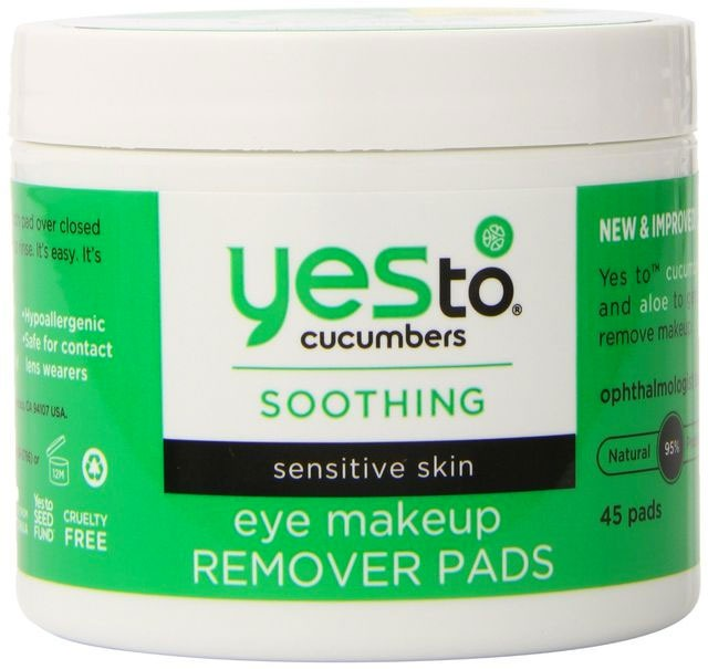 Cucumbers Soothing Eye Makeup Remover Pads