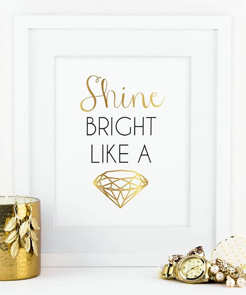 Inspirational Diamond Print