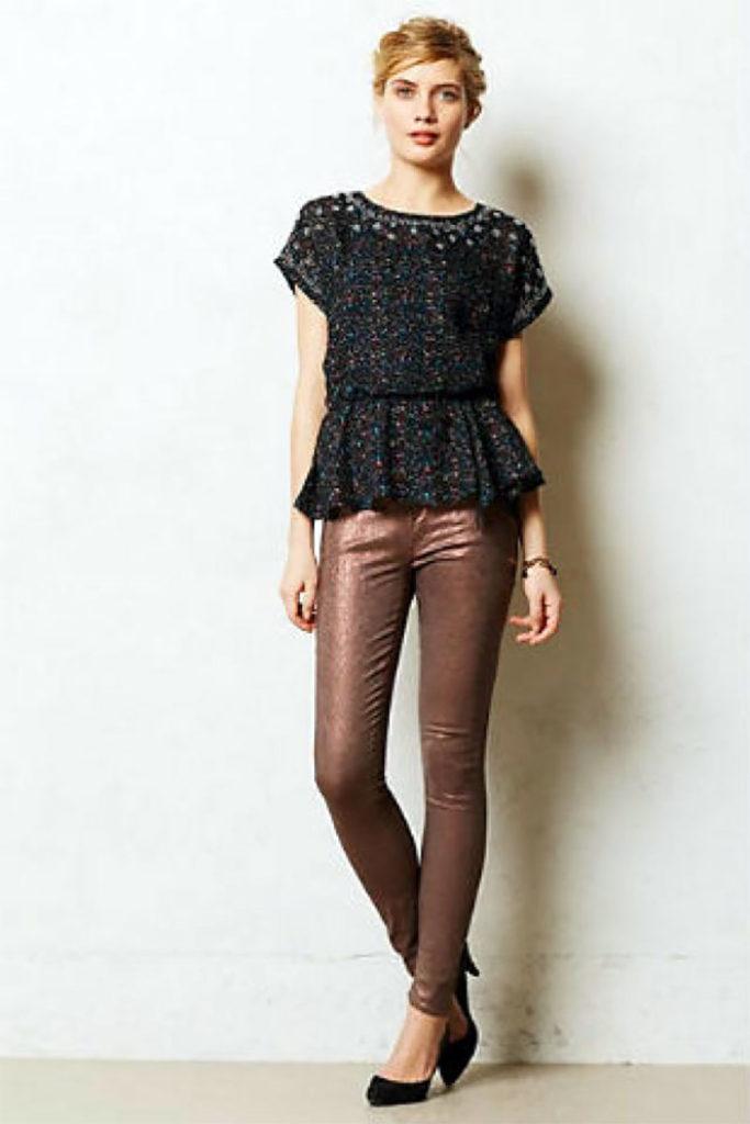 Denim Looker Coated Jeans
