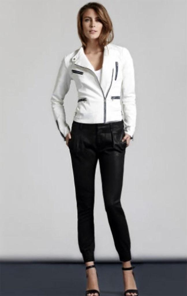 Harem Style Coated Jeans