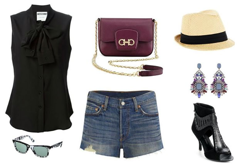 Hipster Outfit with Denim Shorts