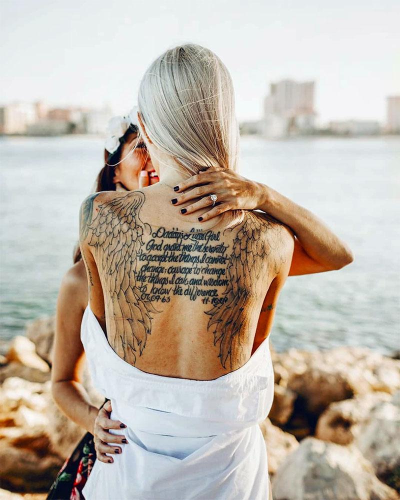 Angel Wings Tattoo For Ladies
