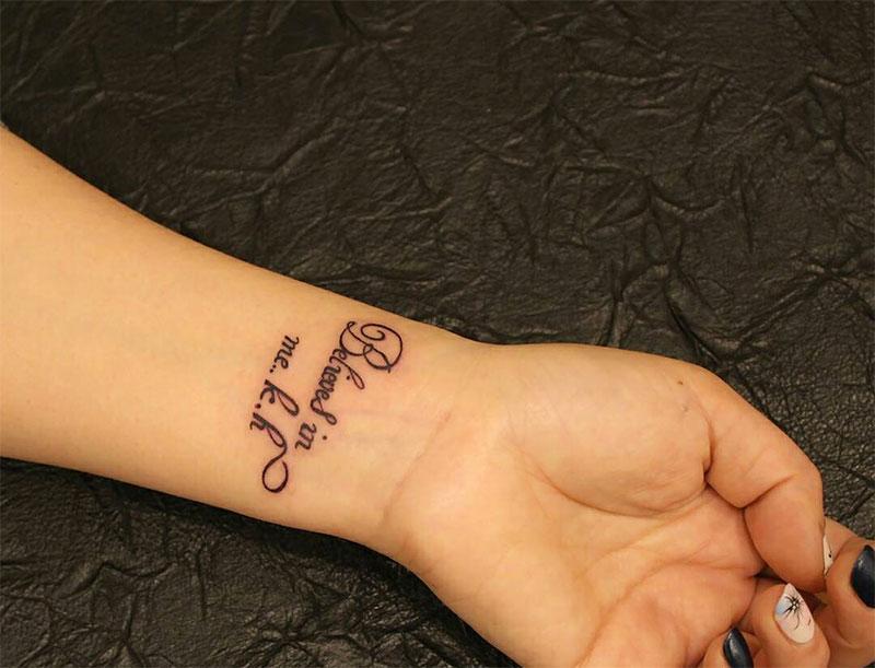 Wrist Tattoo Lettering