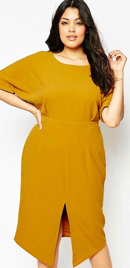 Plain Wiggle Cut Out Back Dress