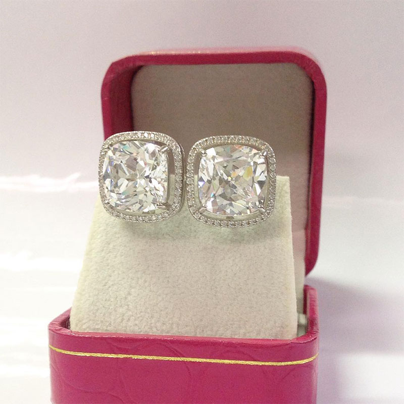 Antique Cushion Cut Rings