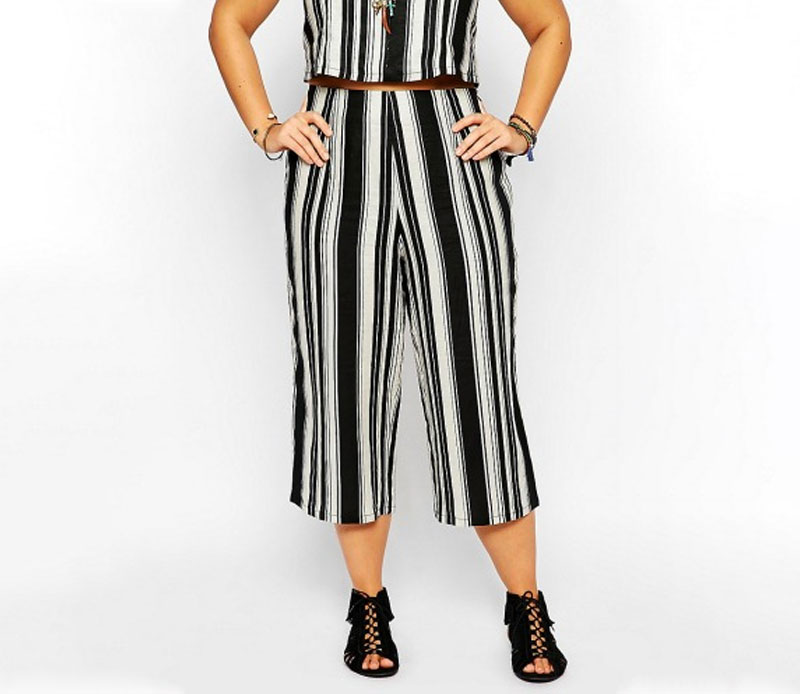 Co-ord Linen Culottes in Stripe