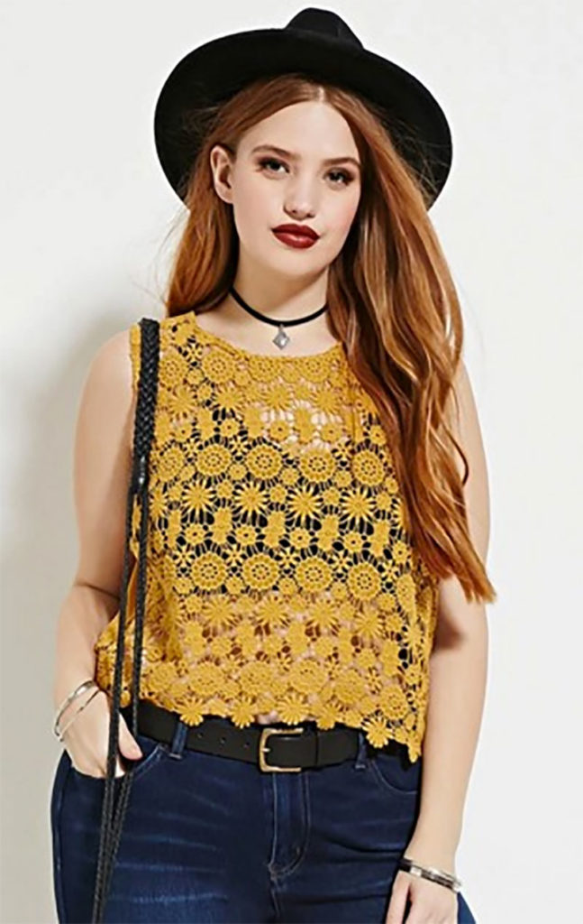 Plus Size Crochet Top