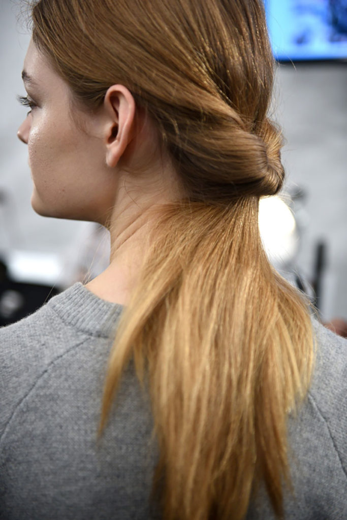 NYFW Fall Ponytail Twist