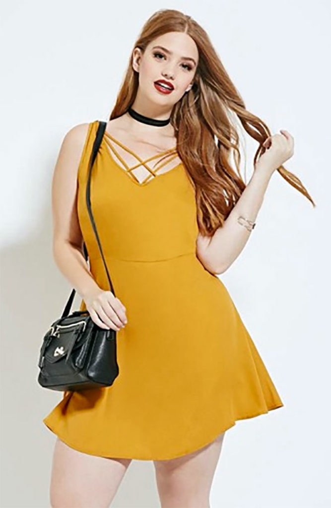 Forever 21 Plus Size Mustard-Colored Clothing