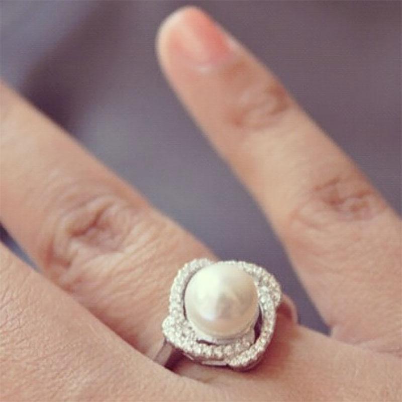 Silver Pearl Rings