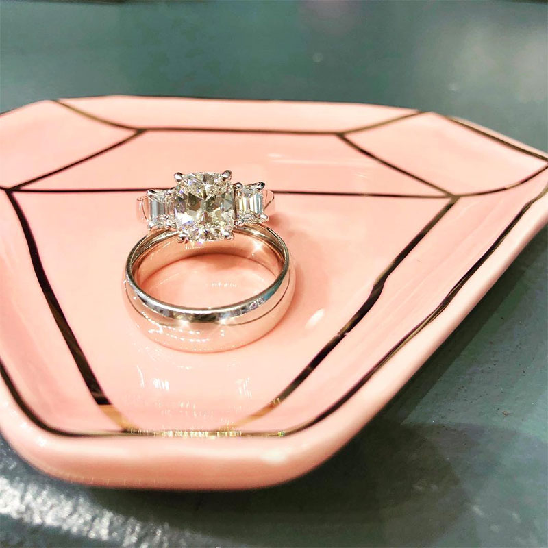 Vintage Cushion Cut Engagement Rings
