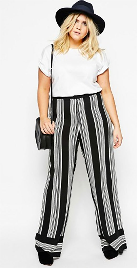 Wide Leg Pant In Stripe