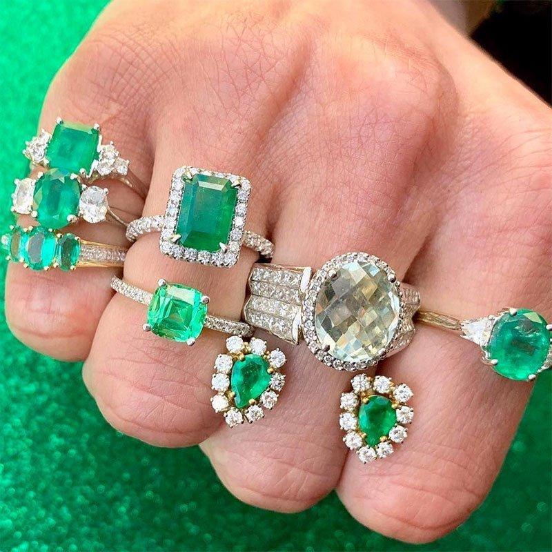 Precious Green Gemstone