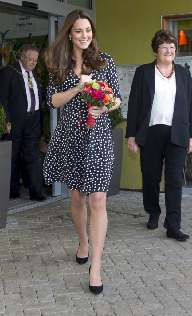 Kate Middleton polka dot maternity dress ASOS
