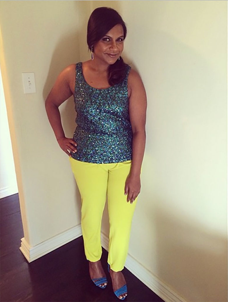 Mindy Kaling sequins via Mindy kaling instagram