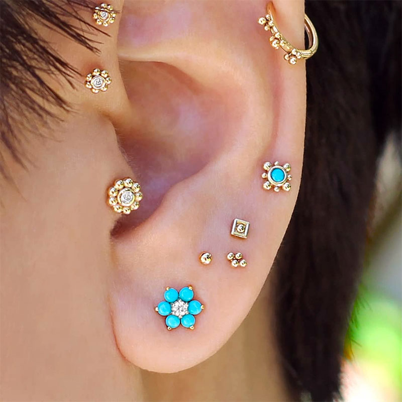Piercing jewelry Designs Your Face Shape