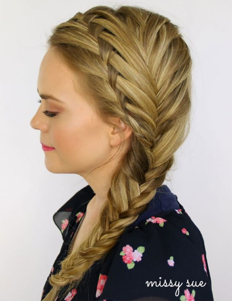Waterfall Fishtail Side Braid