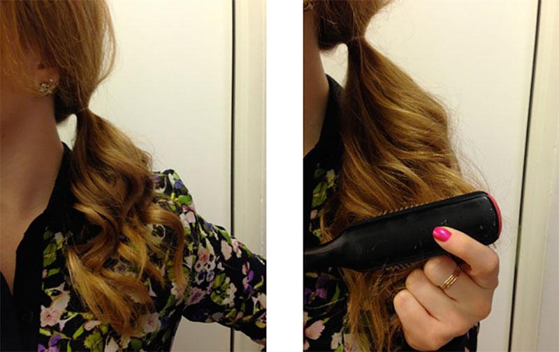 tease a ponytail