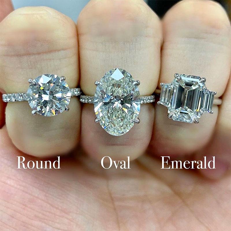 Round vs Oval vs Emerald Ring