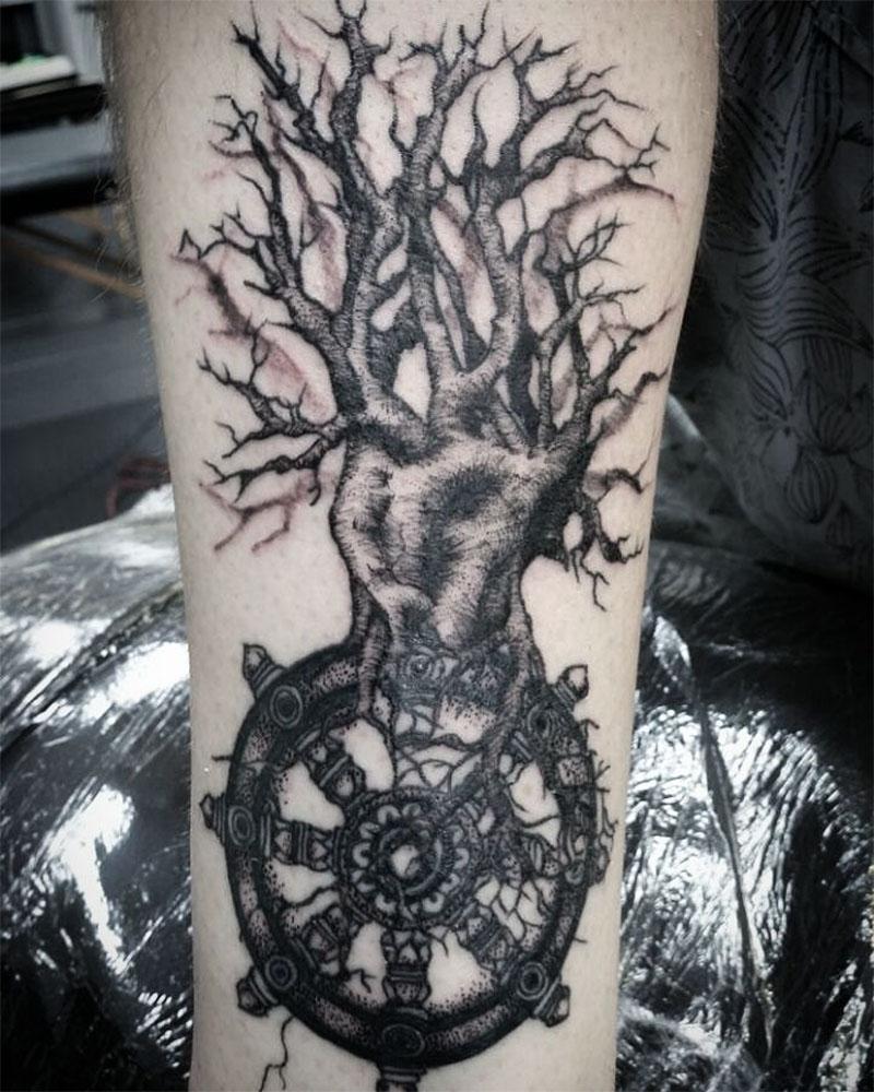 Wheel of Life Tattoo