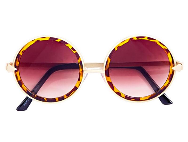 Ella Tortoiseshell Round Sunglasses